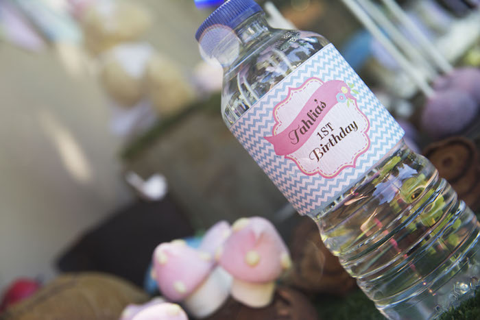 teddy bear picnic party water bottle labels