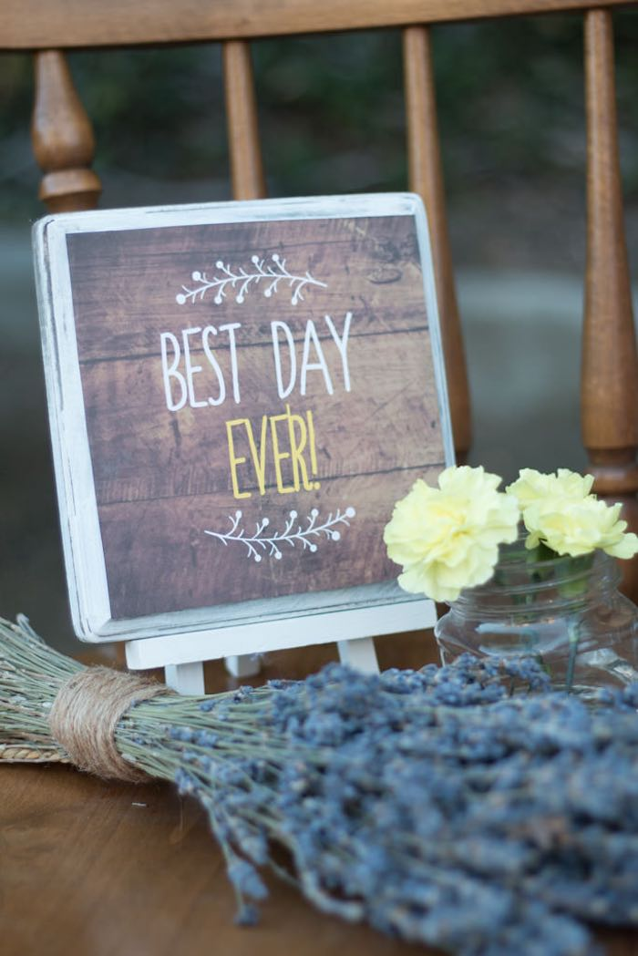 21st Garden Birthday Party  Best Day Ever Sign