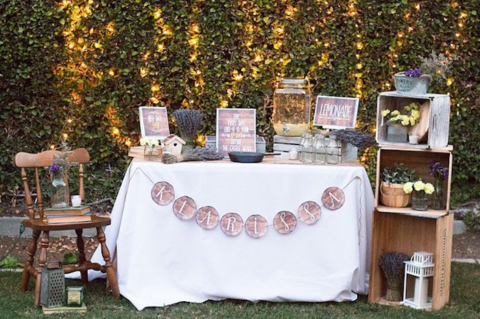 Sweetly feature 21st garden birthday party for 21st bday decoration ideas