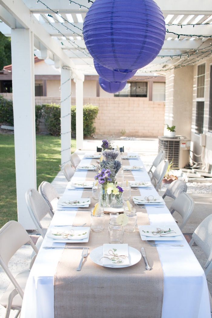 21st Garden Birthday Party Dining Table