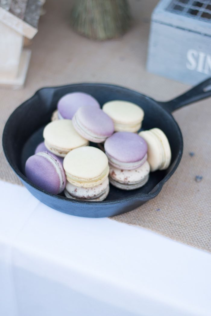 21st Garden Birthday Party Macarons
