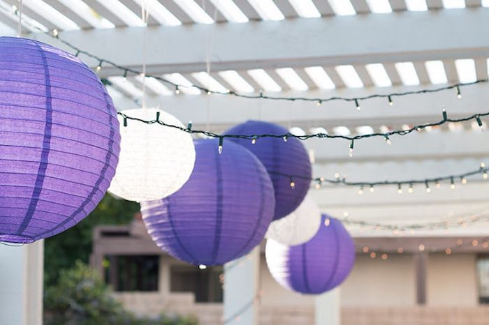 21st Garden Birthday Party  Paper Lanterns