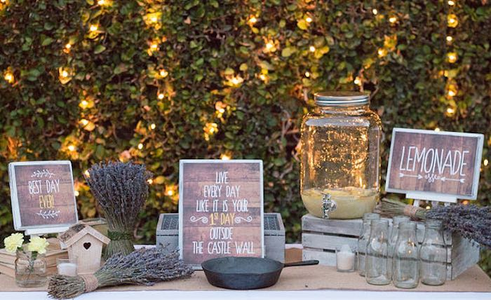 21st Garden Birthday Party  Rustic Decor