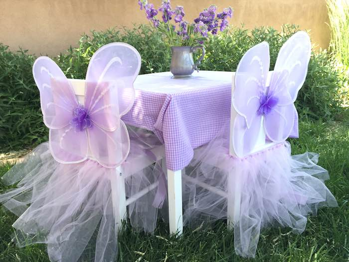 Butterfly Garden Party Kids Table Decor