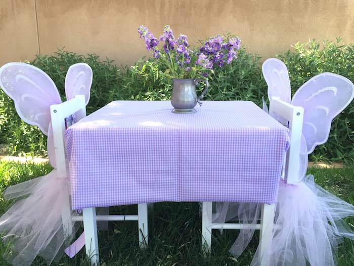 Butterfly Garden Party Kids Table