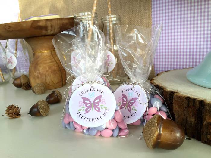 Butterfly Garden Party candy Favors