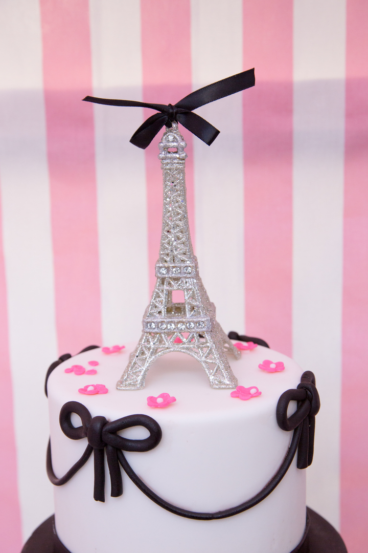 Parisian Cafe Party Eifel Tower cake topper