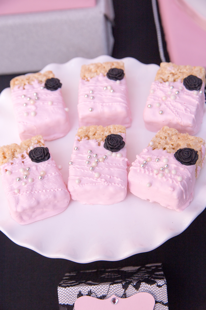 Parisian Cafe Party Rice Krispy Treats