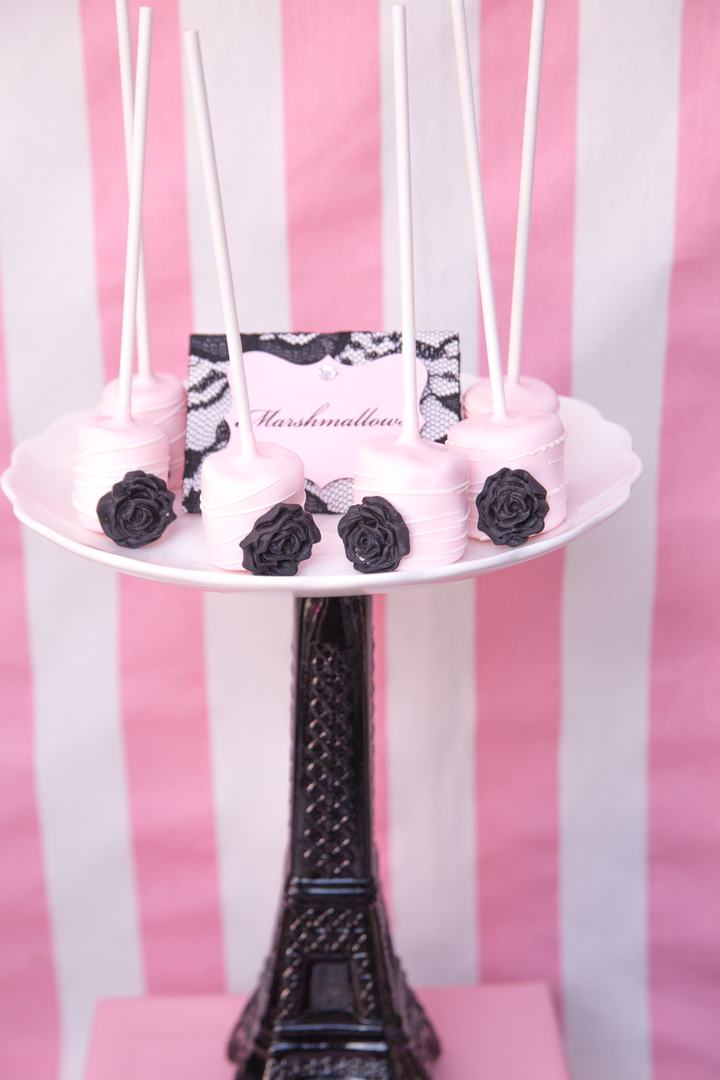 Parisian Cafe Party cake Pops