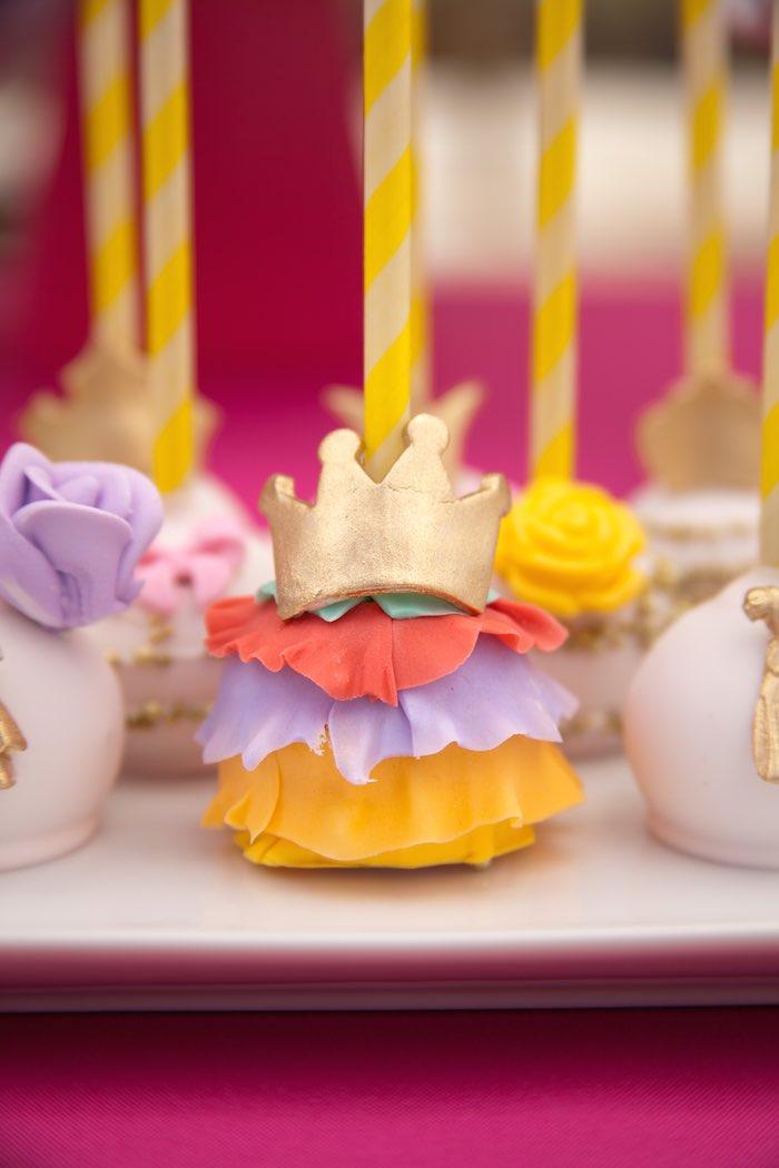 Princess Tea Party Picnic Cake pop crown