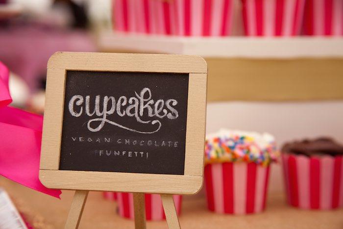 Princess Tea Party Picnic Cupcake Sign