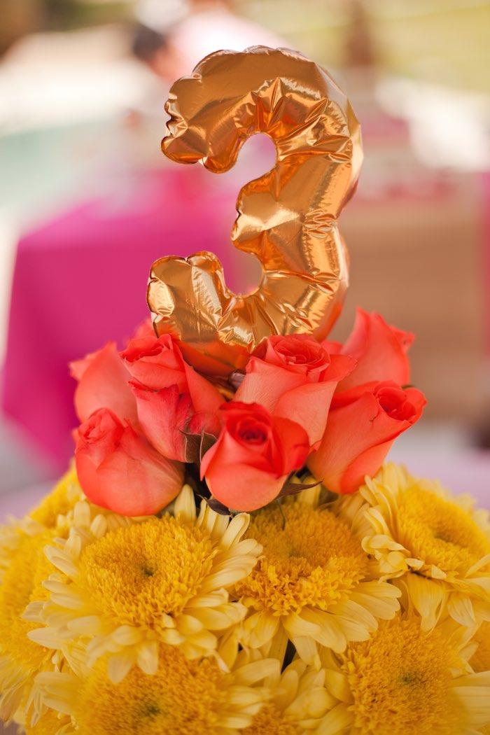 Princess Tea Party Picnic balloon centerpiece