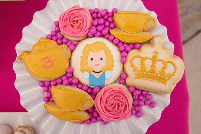 Princess Tea Party Picnic cinderella cookies