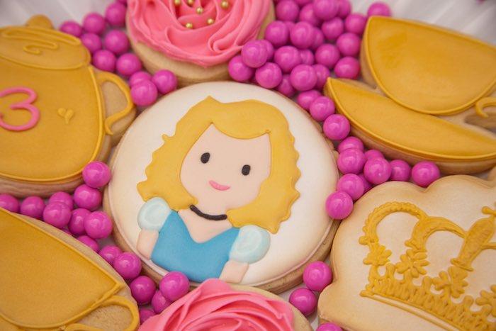 Princess Tea Party Picnic cinderella inspired cookie