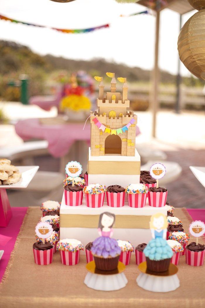 Princess Tea Party Picnic cupcake display