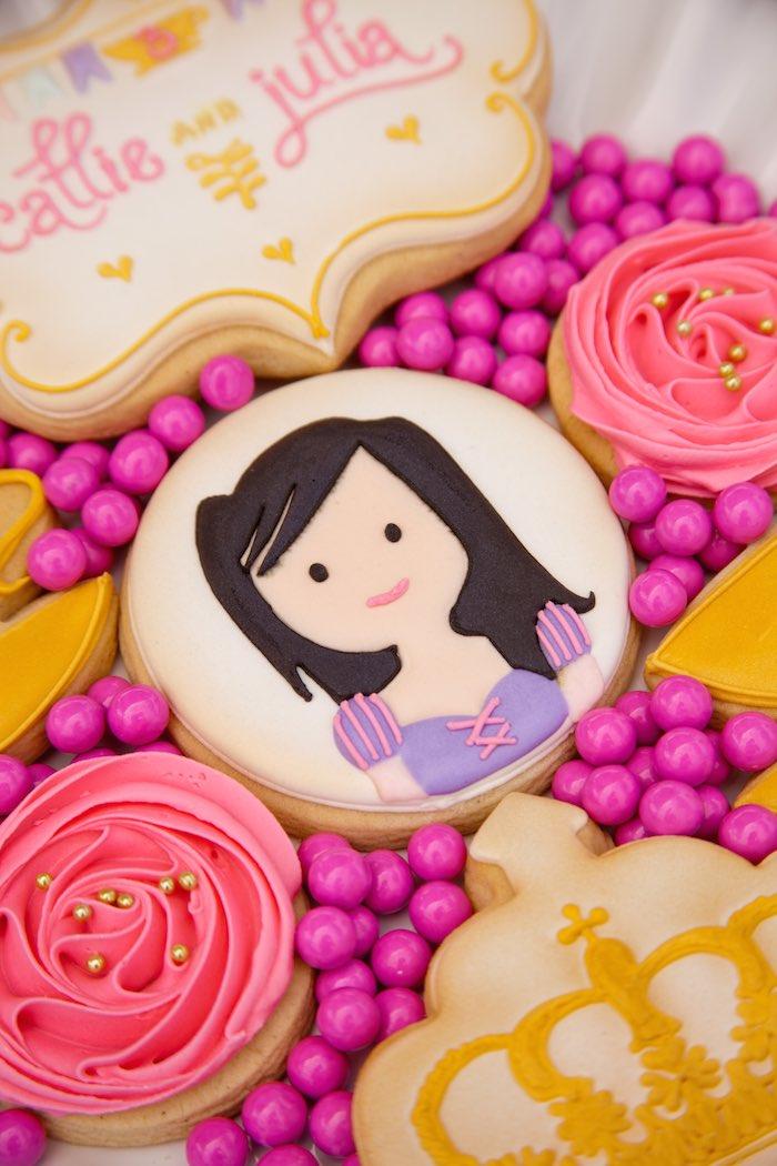 Princess Tea Party Picnic custom cookie
