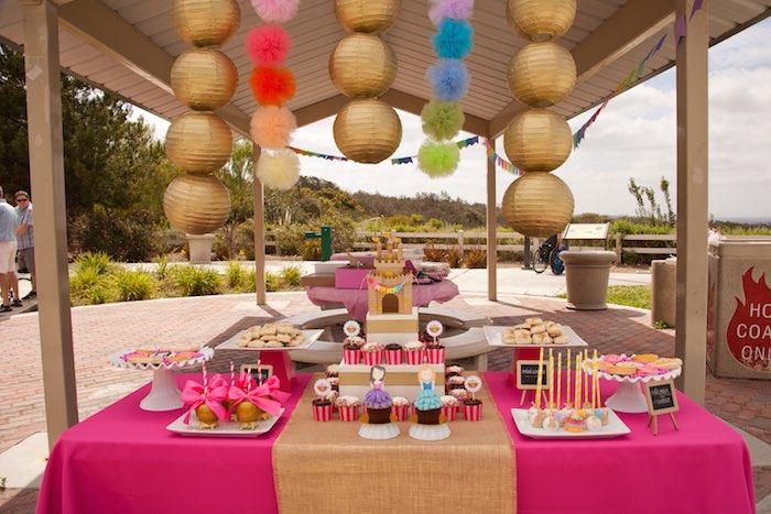 Princess Tea Party Picnic dessert table