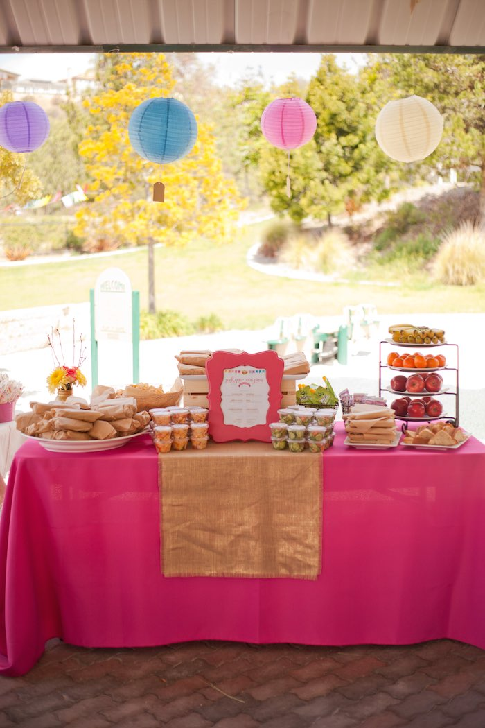 Princess Tea Party Picnic food table