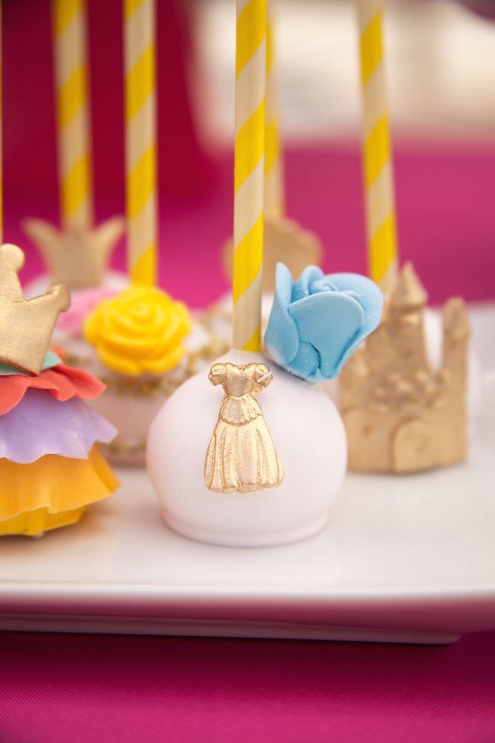Princess Tea Party Picnic gown cake pop