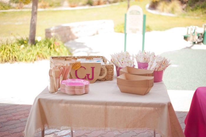 Princess Tea Party Picnic paperware table