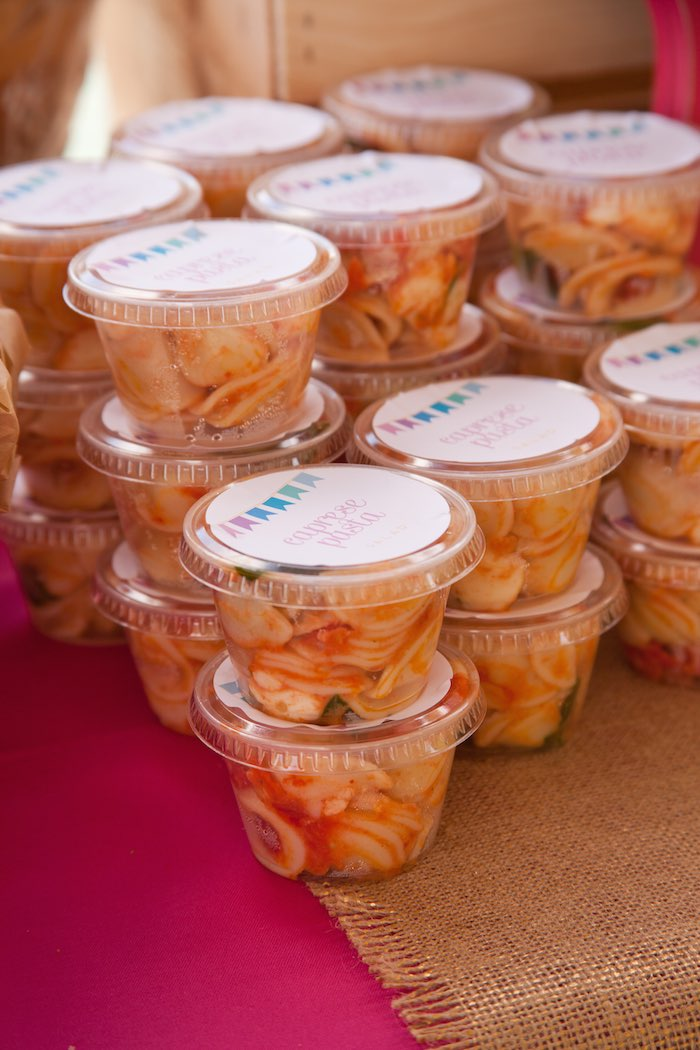 Princess Tea Party Picnic pasta salad cups