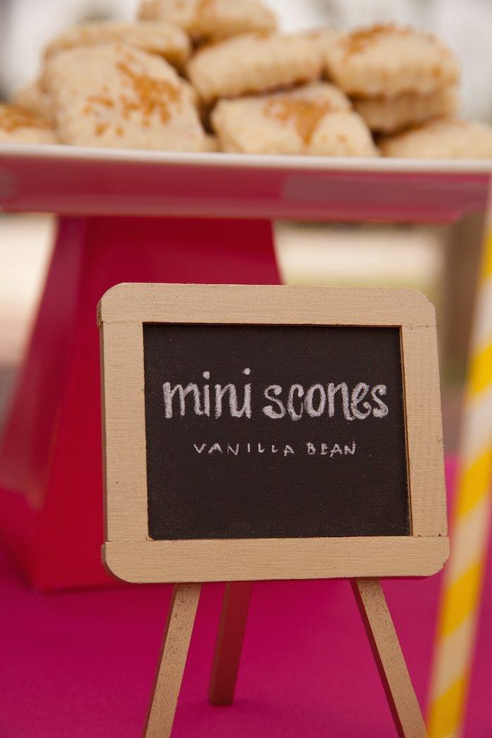 Princess Tea Party Picnic scone sign