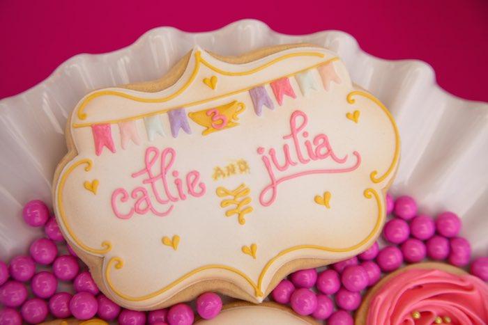 Princess Tea Party Picnic sugar cookie