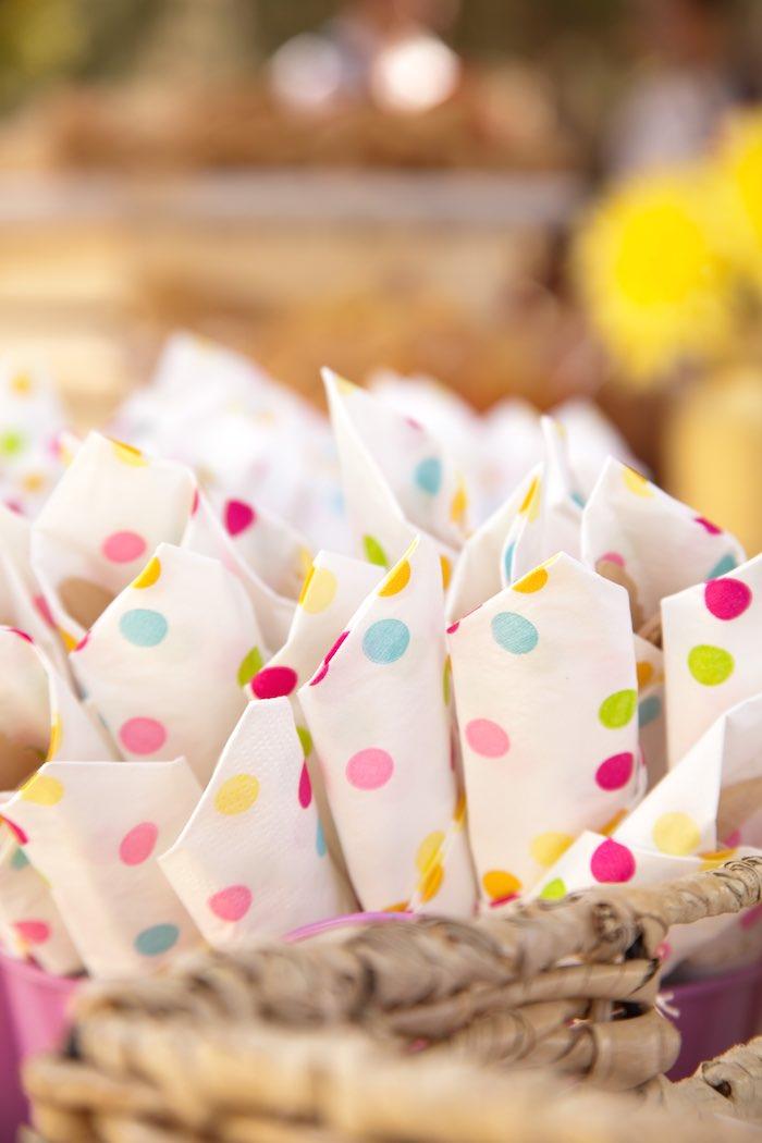 Princess Tea Party Picnic wrapped utensils