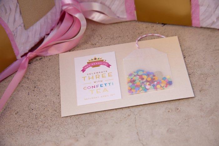 Princess tea party picnic confetti