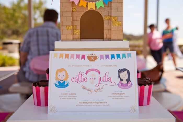 Princess tea party picnic invitation