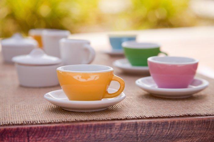 Princess tea party picnic tea cups on saucers