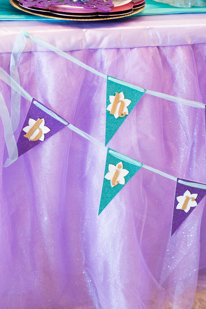 The Little Mermaid Party Banner Detail