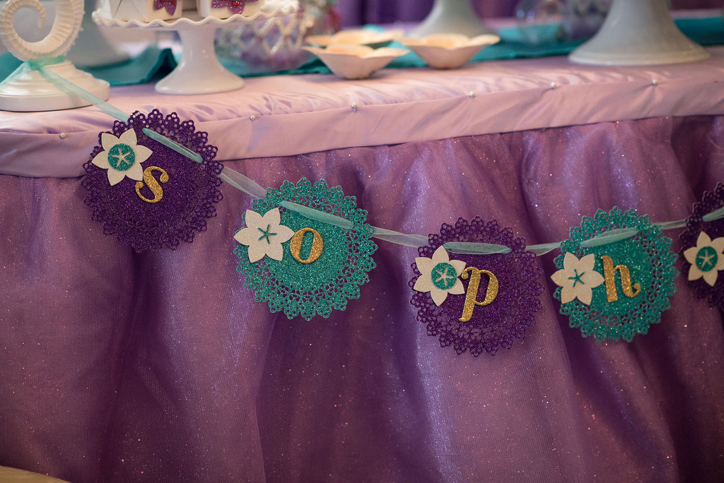 The Little Mermaid Party banner