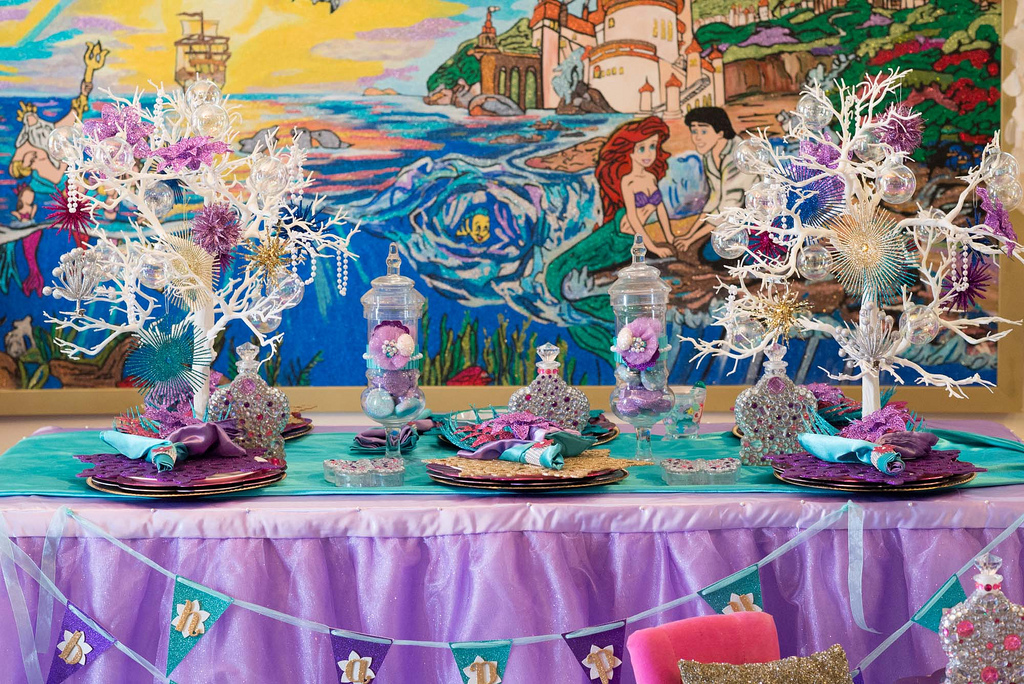 The Little Mermaid Party kids dining table