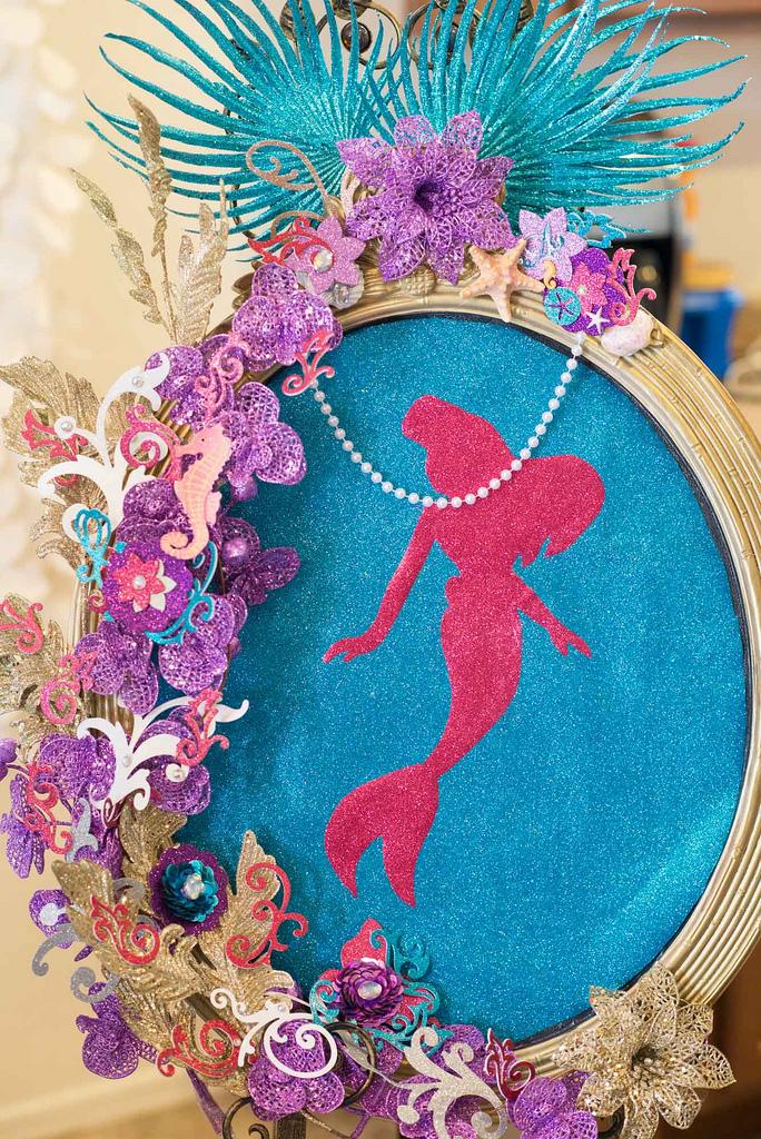 The Little Mermaid Party mirrir decor