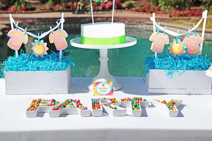 Tie Dye Party Candy Letters