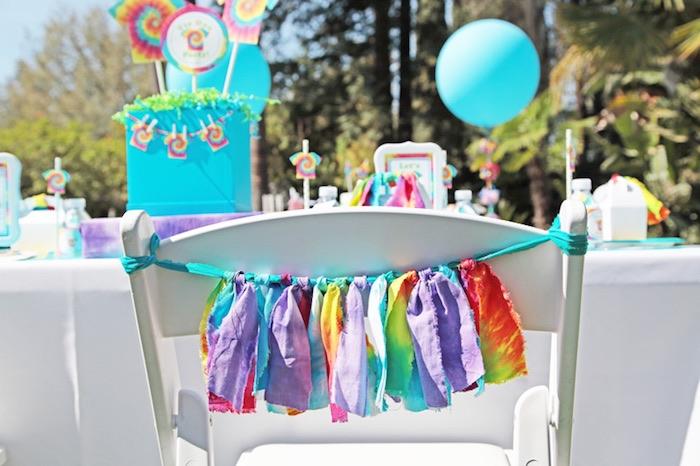 Tie Dye Party Chair Garland