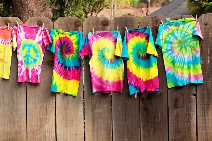 Tie Dye Party Finished Shirts