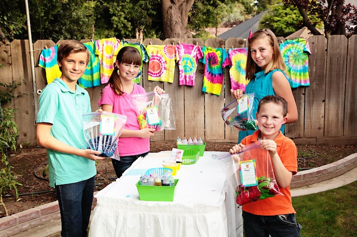 Tie Dye Party Shirts in Bags