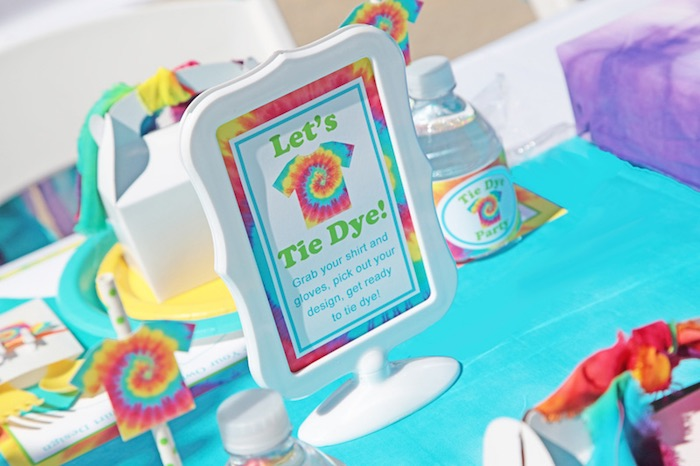 Tie Dye Party Signage
