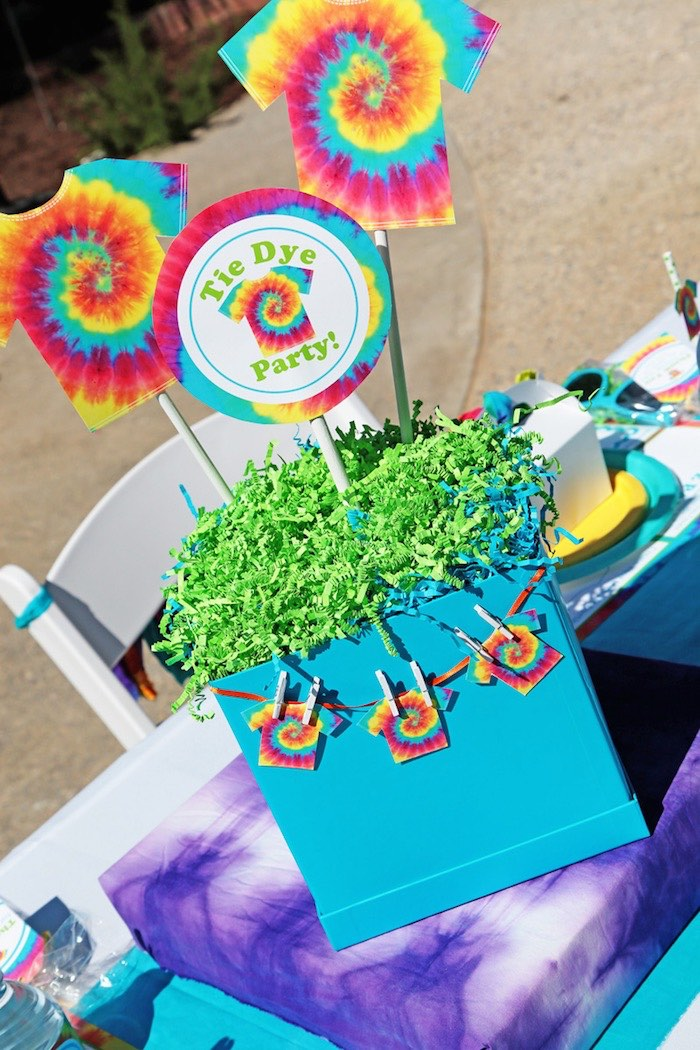 Tie Dye Party Toppers