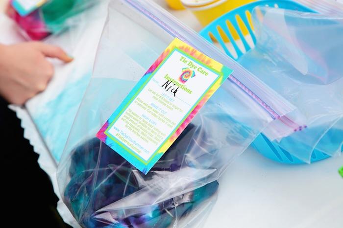 Tie Dye Party Tye Dye Instructions