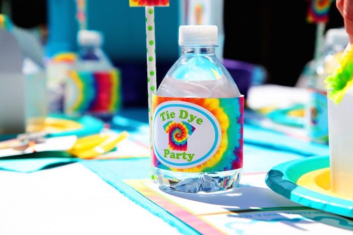 Tie Dye Party Water Bottle