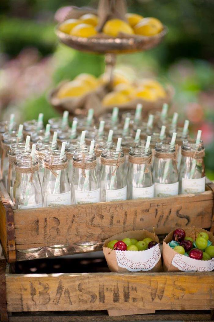 Vintage Up Up & Away Party Carafes in Crate