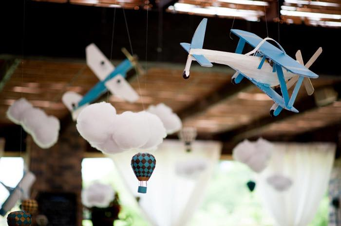 Vintage Up Up & Away Party Cloud and Plane Decor