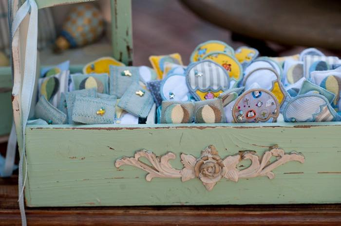 Vintage Up Up & Away Party Decor in Vintage Tray