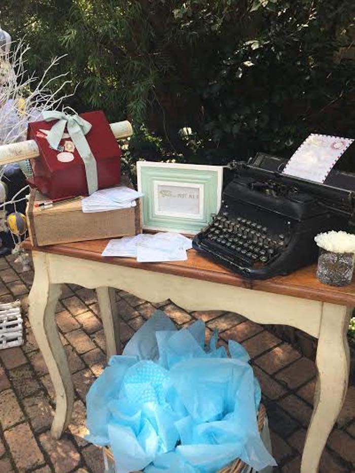 Vintage Up Up & Away Party Typewriter Decor