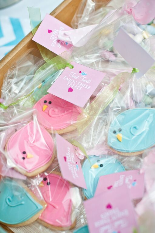 Cherry Blossoms and Birds First Birthday Party Bird Cookies