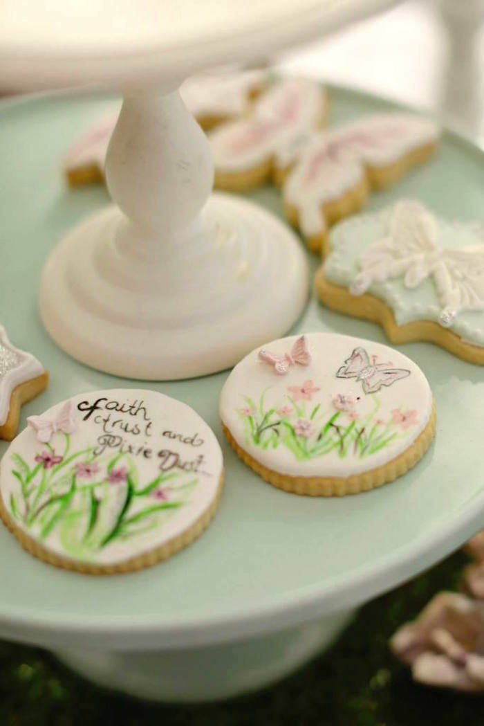 fairy garden birthday party butterfly cookies