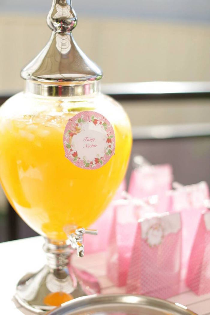 fairy garden birthday party drink ideas